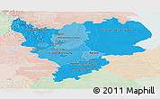 Political Shades Panoramic Map of East Midlands, lighten