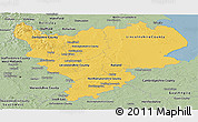 Savanna Style Panoramic Map of East Midlands