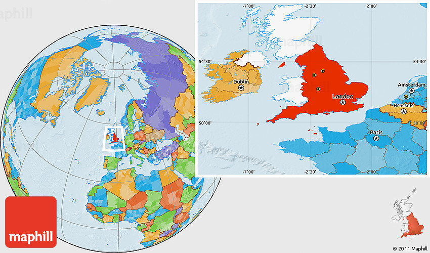 Political location map of england highlighted country 2d gumiabroncs Gallery
