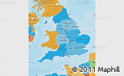 Political Shades Map of England