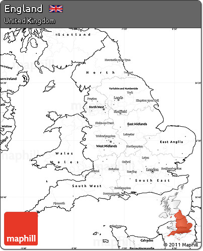 Simple Map Of England.Free Blank Simple Map Of England