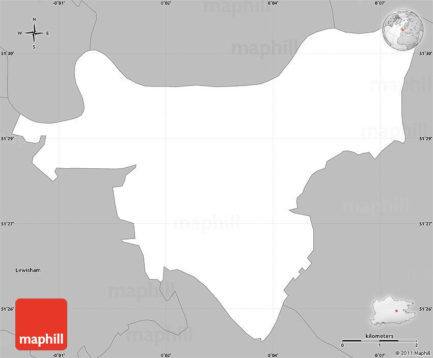 Gray simple map of greenwich 2d gumiabroncs Images