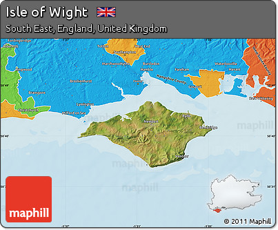 Free Satellite Map of Isle of Wight political outside