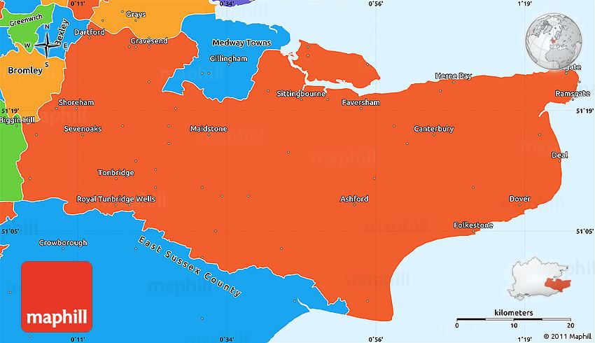 Political Simple Map of Kent County on kent maryland map, kent great britain, kent washington, grand rapids map, kent zip map, kent uk, kent street map, kent elevation map, kent united kingdom map, kent island map, kent co township map,