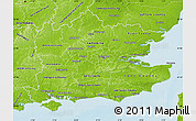 Physical Map of South East