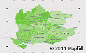 Political Shades Map of South East, cropped outside