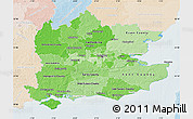 Political Shades Map of South East, lighten
