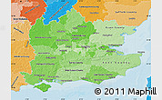 Political Shades Map of South East