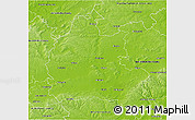 Physical 3D Map of Oxfordshire County