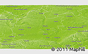 Physical Panoramic Map of Oxfordshire County