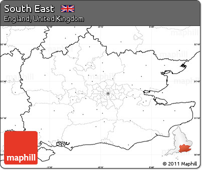 Map Of Uk No Labels.Free Blank Simple Map Of South East No Labels