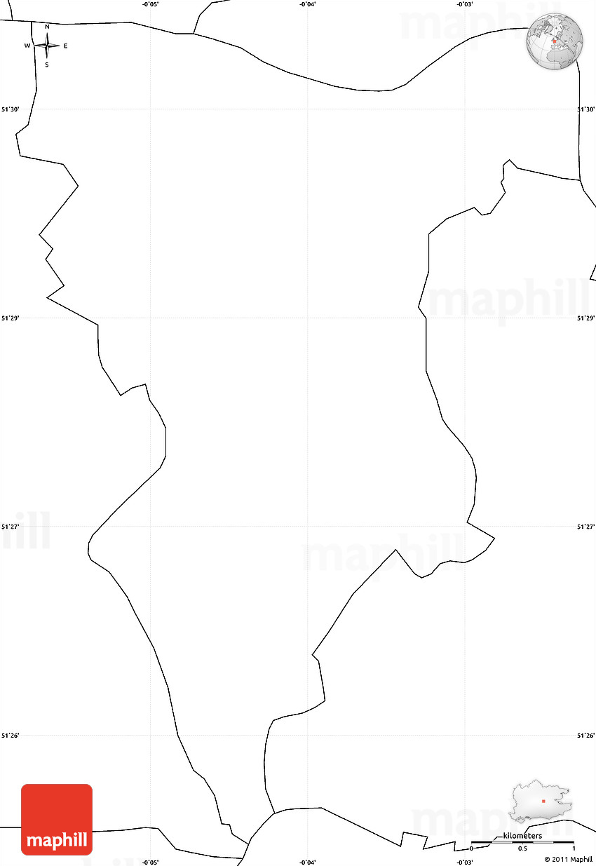 blank simple map of southwark