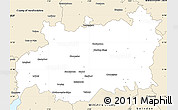 Blank Simple Map of Gloucestershire County