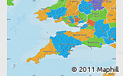 Political Map of South West