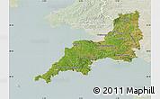 Satellite Map of South West, lighten