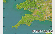 Satellite Map of South West