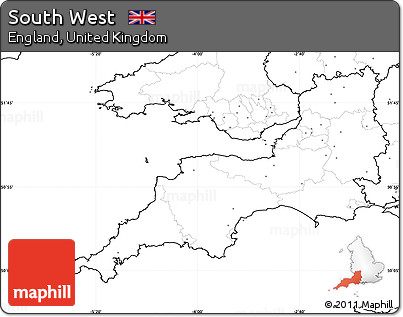 Map Of Uk No Labels.Free Blank Simple Map Of South West No Labels