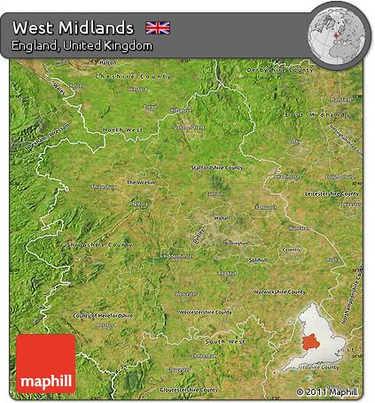 midlands uk map