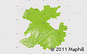 Physical Map of Shropshire County, cropped outside