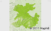 Physical Map of Shropshire County, lighten