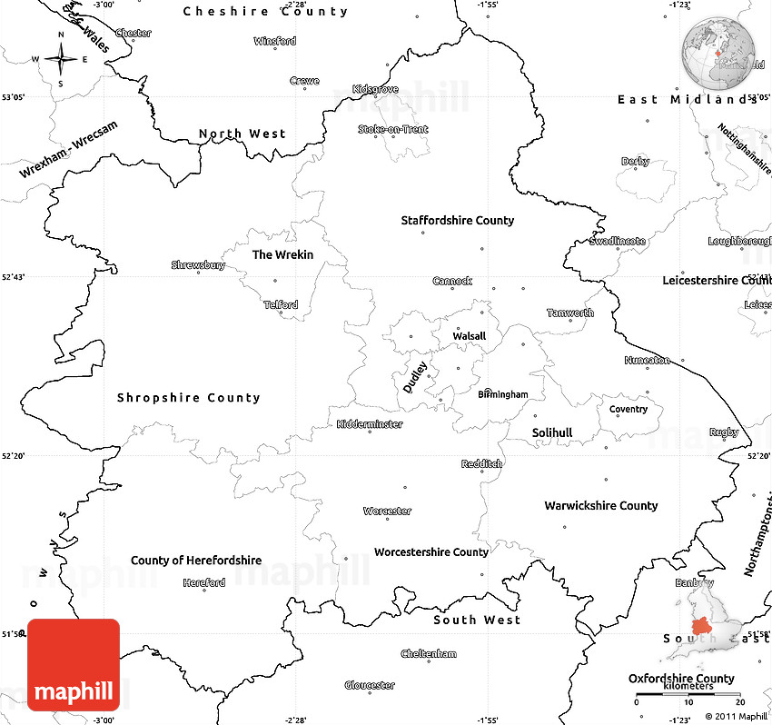 west midlands england: