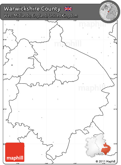 Map Of Uk No Labels.Free Blank Simple Map Of Warwickshire County No Labels