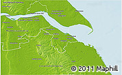 Physical 3D Map of North East Lincolnshire