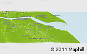 Physical Panoramic Map of North East Lincolnshire