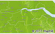 Physical 3D Map of North Lincolnshire