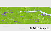 Physical Panoramic Map of North Lincolnshire