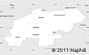 Silver Style Simple Map of North Lincolnshire