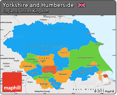 Worksheet. Free Political Simple Map of Yorkshire and Humberside single