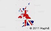 Flag Map of United Kingdom