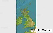 Satellite Map of United Kingdom