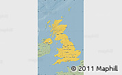 Savanna Style Map of United Kingdom