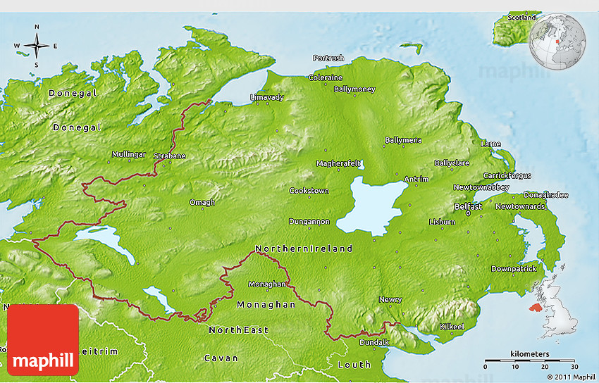Map Of Ireland 3d.Physical 3d Map Of Northern Ireland