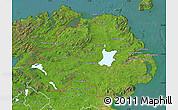 Satellite Map of Northern Ireland