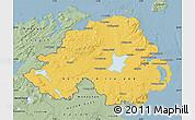 Savanna Style Map of Northern Ireland