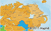 Political Shades 3D Map of Northern Ireland