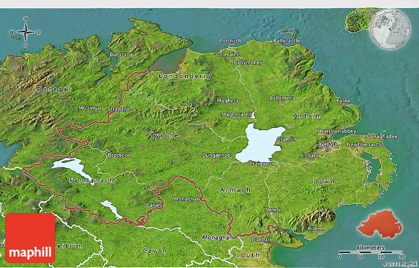 Map Of Ireland 3d.Satellite 3d Map Of Northern Ireland