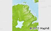 Physical Map of Antrim