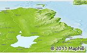 Physical Panoramic Map of Antrim