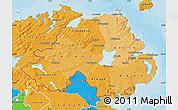 Political Shades Map of Northern Ireland
