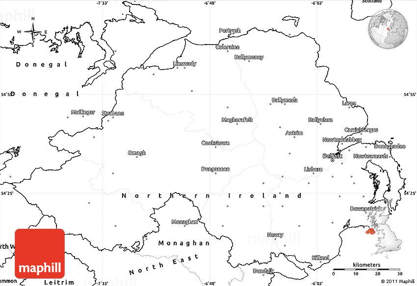 Blank Map Of Ireland.Blank Simple Map Of Northern Ireland