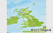 Physical Panoramic Map of United Kingdom