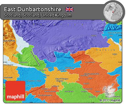 Dunbartonshire Map Map of East Dunbartonshire