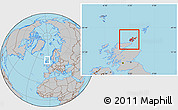 Gray Location Map of Orkney Islands