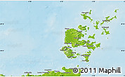 Physical Map of Orkney Islands