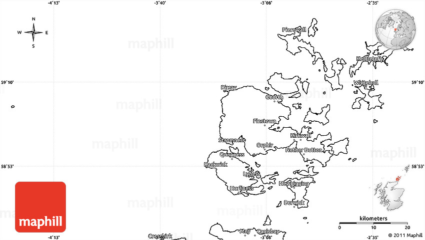 Blank Simple Map of Orkney Islands on blank newspaper scotland, blank map of the middle east 2013, blank map of europe 2013,