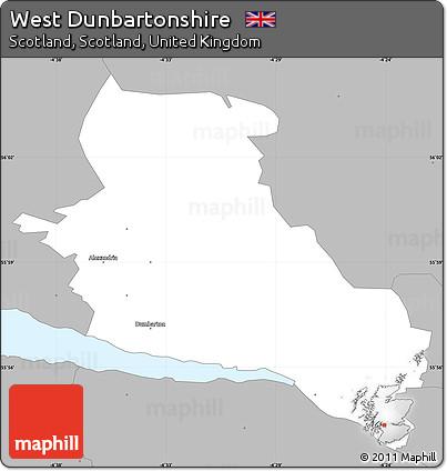 Dunbartonshire Map Map of West Dunbartonshire